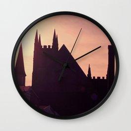 Steeples in Shadows Wall Clock