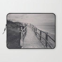 Black & white, beach photography, fine art print, long exposure b&w photograph Laptop Sleeve