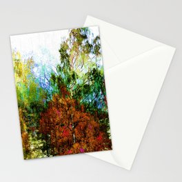 Colorful Birches Stationery Cards