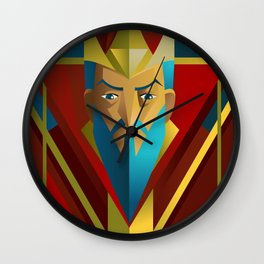 geometric royal king Wall Clock