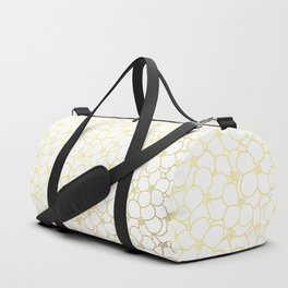 Forget Me Knot White Gold Duffle Bag
