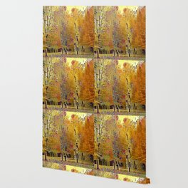 Klimt Trees Wallpaper