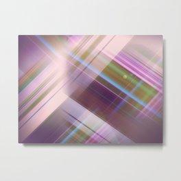 Layer Cake in Purple Metal Print