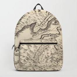 Vintage Map of Yosemite Valley (1879) Backpack