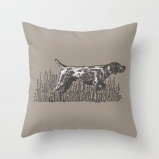 Pointer in Color Throw Pillow