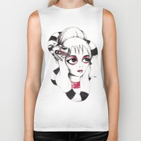 lydia martin Biker Tanks featuring Lydia Deetz by Laura Pastor