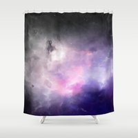 cosmos Shower Curtains featuring Cosmos by Just Art
