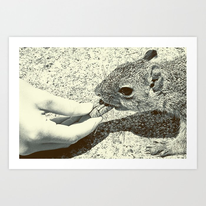 Tug of war Art Print