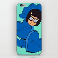 tina crespo iPhone & iPod Skins featuring Tina Belcher  by Moremeknow