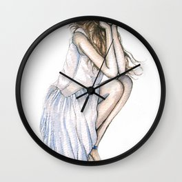 Fourth of July // Fashion Illustration Wall Clock