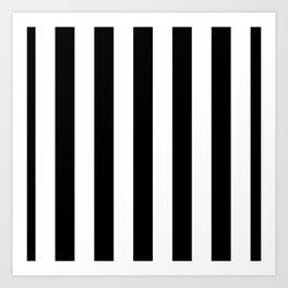 Stripes Black And White Art Print