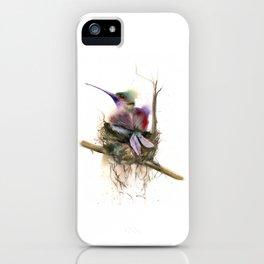 Hummingbird nest iPhone Case
