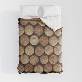 Wine corks background. Top view close up Comforters