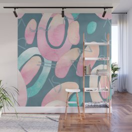 Blueprint and  Watercolor Texture 1 Wall Mural