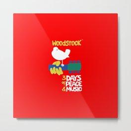 Woodstock 1969 - red background Metal Print