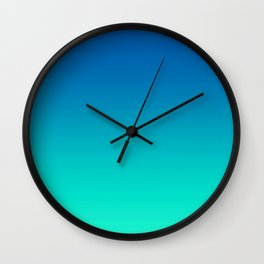 Teal Mint Ombre Wall Clock