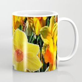 GOLDEN ORANGE YELLOW SPRING DAFFODILS Coffee Mug