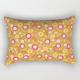 Autumn floral - mustard, ochre Rectangular Pillow