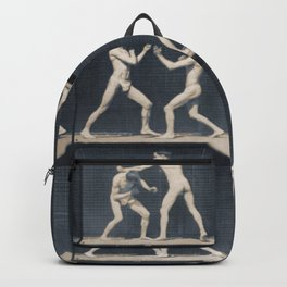 Time Lapse Motion Study Men Boxing Backpack