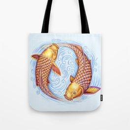 Pisces Fish Yin Yang Mandala Tote Bag