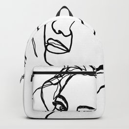 Woman's face line drawing - Adena Backpack