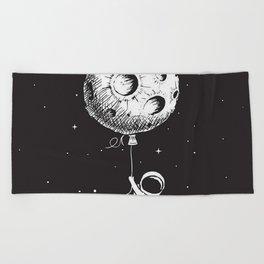 Fly Moon Beach Towel