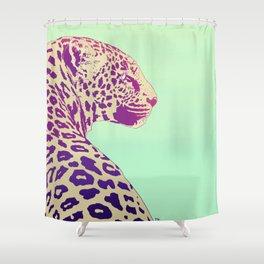 Leopard under the Sun Shower Curtain