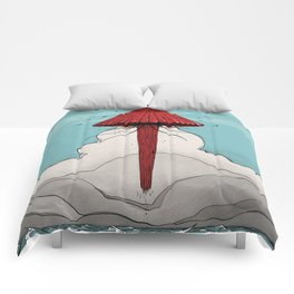 Méduse volante #5 Comforters
