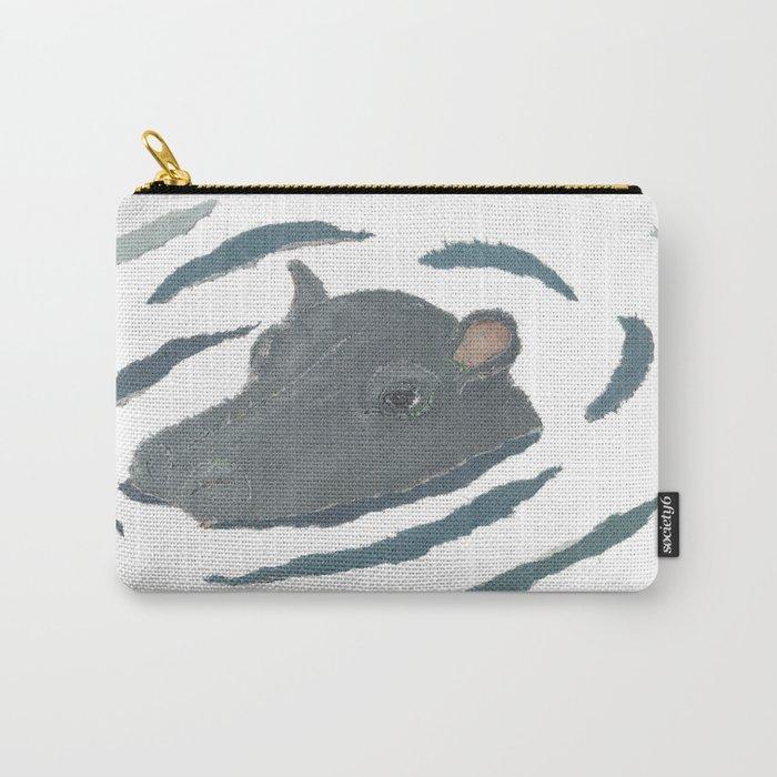 Hippo, hippopotamus, Wildlife, Africa, Savanna, Safari Carry-All Pouch