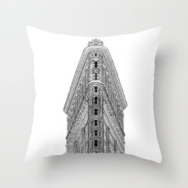 Flatiron Building Throw Pillow