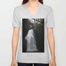 Oregon Waterfall Unisex V-Neck