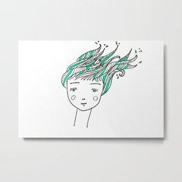 Wet Hair Metal Print