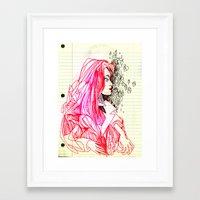 notebook Framed Art Prints featuring notebook casto  by Jordan Piantedosi
