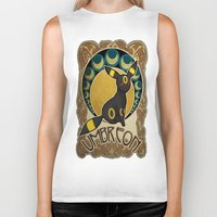 umbreon Biker Tanks featuring Umbreon by Yamilett Pimentel