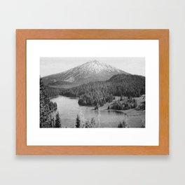 Mt. Bachelor Grain Framed Art Print