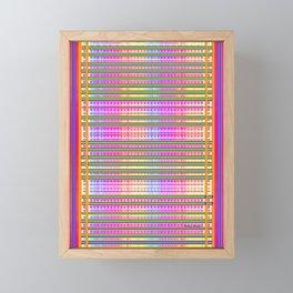BLUE STRIPE PATTERN Framed Mini Art Print
