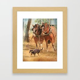 If You Want The Job Done Framed Art Print