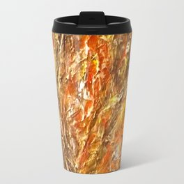 Textured Acrylic Painting By Annette Forlenza Travel Mug