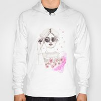 cherry blossoms Hoodies featuring Cherry Blossoms by Ashlee Spink Illustration