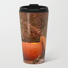 A Chickadee Thanksgiving Metal Travel Mug