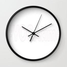 yoga time Wall Clock