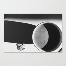 Even Storm Troopers can enjoy their coffee in the sun Canvas Print