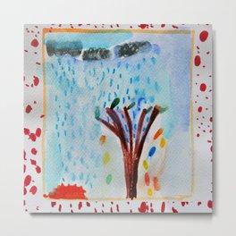 Raining Tree Metal Print