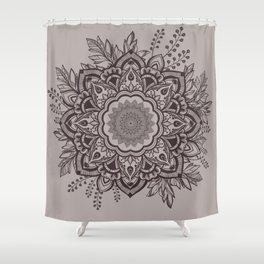 Mandala Bohemian Seaside Stone Floral Wreath Reverse Shower Curtain