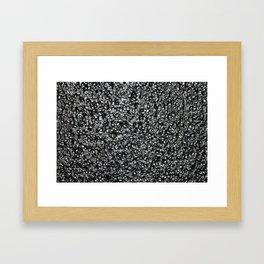Black Lava Framed Art Print