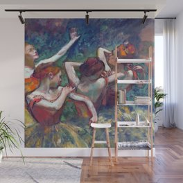 Edgar Degas Four Dancers Wall Mural