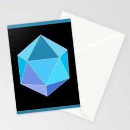 Blue Icosahedron. Stationery Cards