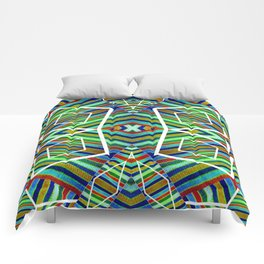 Colorful Geometric Tribal Abstract Pattern Style  Comforters