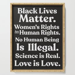 Black Lives Matter / Equality / Activism Seventies Style Quote Serving Tray