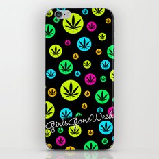 GGDUB - Neon Weed Leaf  iPhone & iPod Skin
